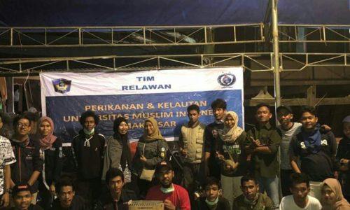 Himpunan Fakultas Perikanan dan Ilmu Kelautan UMI Menjadi Relawan Korban Banjir