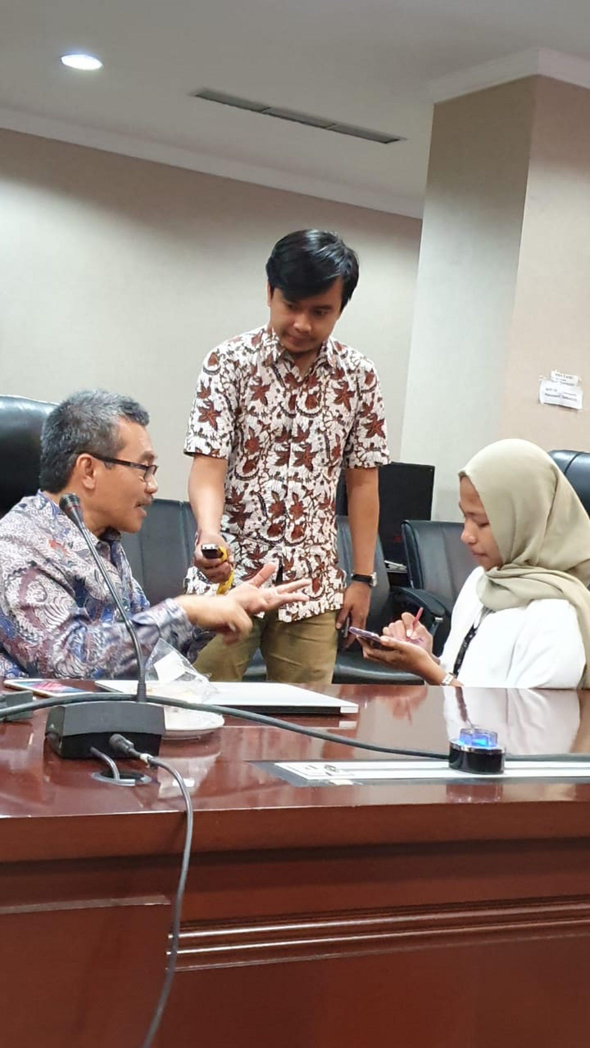 Wawancara Oleh Wartawan di Kantor Staf Kepresidenan