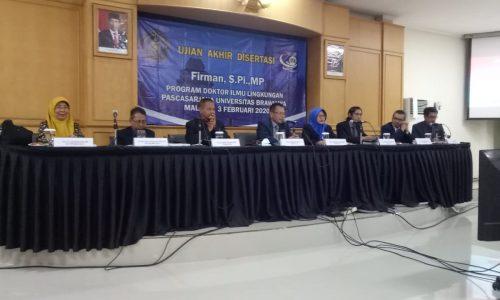 Dr. Ir. Hasnidar, MS Menjadi Penguji Sekaligus CO-Promotor pada ujian Disertasi  di Universitas Brawijaya Malang